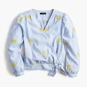JCrew Embroidered Pineapple Shirt